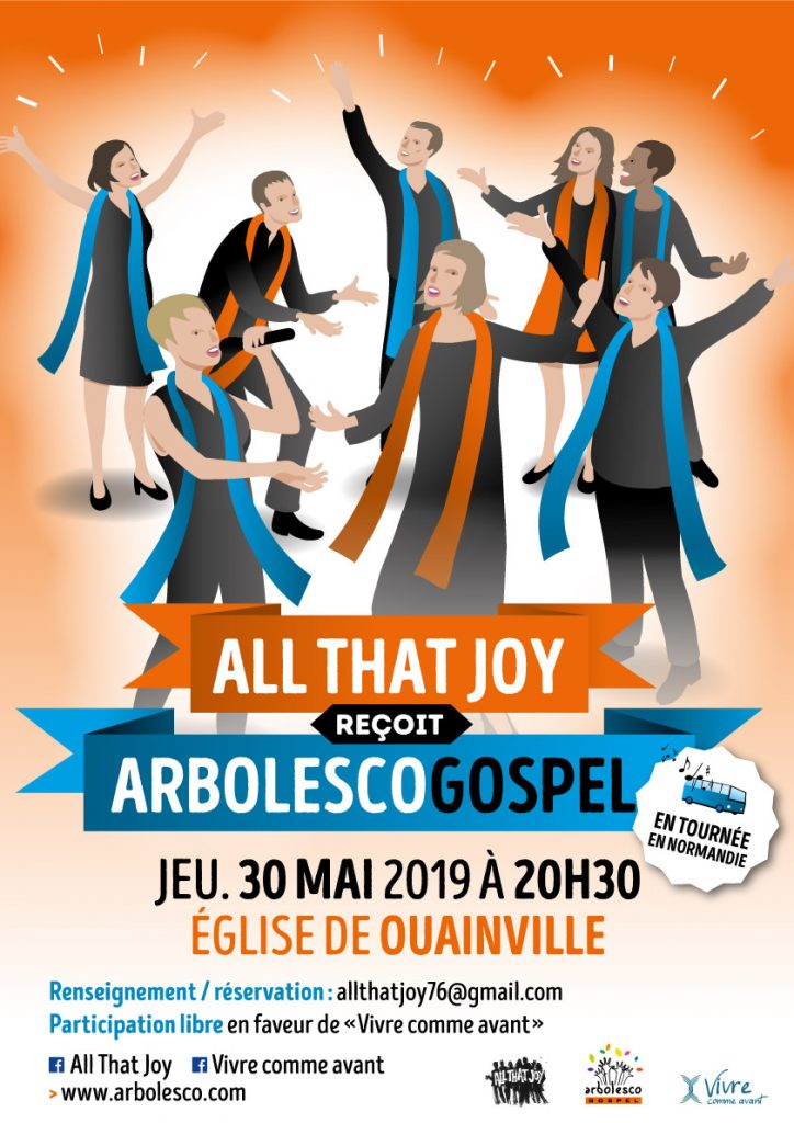 All that Joy reçoit Arbolesco Gospel à OUAINVILLE (76)